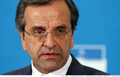 Antonis Samaras, leader of New Democracy, is expected to be sworn in as Greece's next prime minister.