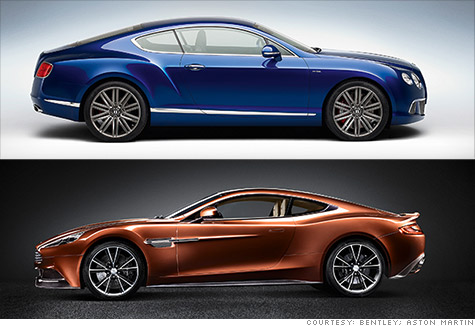 Prices for the new Bentley GT Speed coupe will start at $215,000. The Aston Martin Vanquish will start at $280,000.