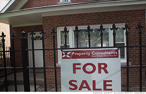 Home prices post first monthly gain in seven months.