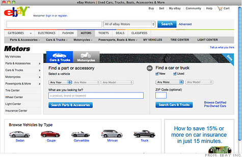 EBay Motors will sell off 50 cars in a new race-the-clock format.