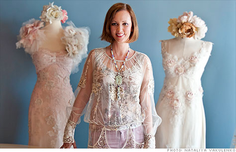 Claire Pettibone, who designed Priscilla Chan's dress for her wedding to Mark Zuckerberg, has seen a 300% increase in sales at her Bevery Hills store in June.