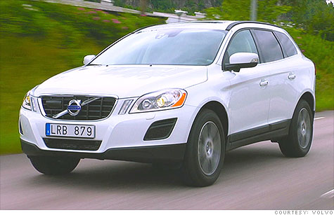 The Volvo XC60 features a forward collision avoidance system, which car crash technology a new study says improves safety.