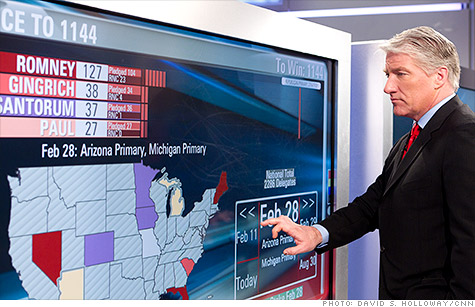 CNN's John King used the Magic Wall for his coverage of the Michigan and Arizona primaries this year.
