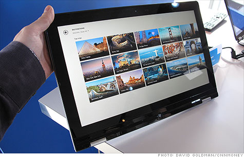 Lenovo's new Yoga ultrabook folds back to become a tablet.
