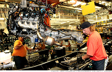 Every summer, auto factories shut down for a few weeks to retool their machinery -- a phenomenon that results in temporary layoffs. This year there were fewer layoffs than usual, which may have been a factor in the first-time unemployment benefits decline.