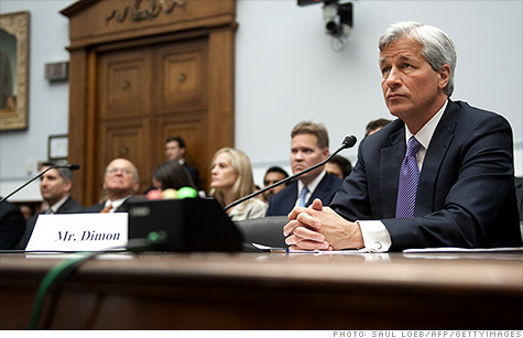 In June, JPMorgan's CEO spent hours answering questions from members of Congress on the bank's trading losses during two appearances on Capitol Hill.