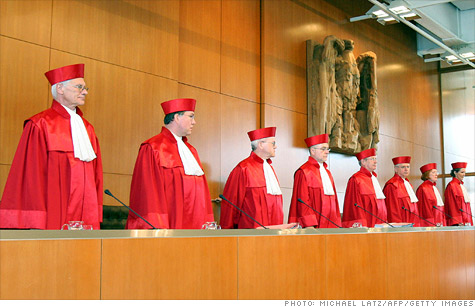 The German Constitutional Court will take at least two months to decide whether to grant an injunction blocking the European Stability Mechanism.