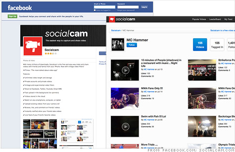 Socialcam quickly drew millions of users thanks to its aggressive tactics for spreading on social networks like Facebook.