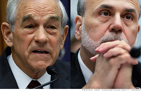 Federal Reserve Chairman Ben Bernanke called Ron Paul's 'Audit the Fed' bill a 'nightmare scenario' Wednesday.