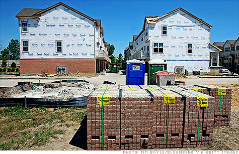 New home construction is starting to heat up, with housing starts rising to the highest level since October 200
