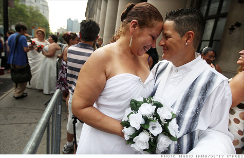Gay marriage boosts NY...