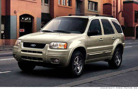 Ford Escape SUVs recalled for unintended acceleration  Jul 26 2012