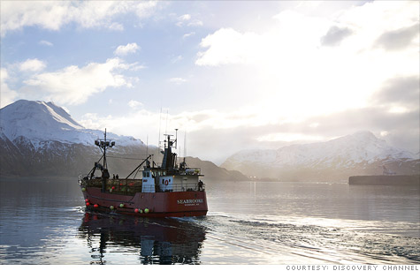 Crabbers work the dangerous waters of the Bering Sea in winter.