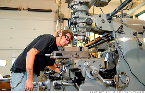 Many U.S. trade schools are seeing record enrollment in manufacturing-related programs as need for skilled factory workers explodes.
