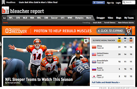 Turner Broadcasting announced Monday that it has acquired Bleacher Report, a popular network of sports websites.