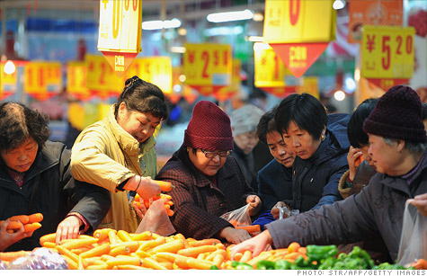 Chinese inflation drops to new low.