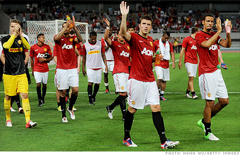 Manchester United is now valued at about $2.3 billion after its IPO.