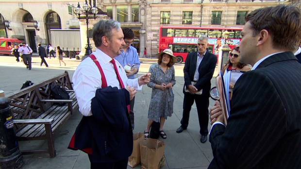 Take a tour of London's financial crisis