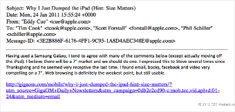 Eddy Cue's email to Tim Cook