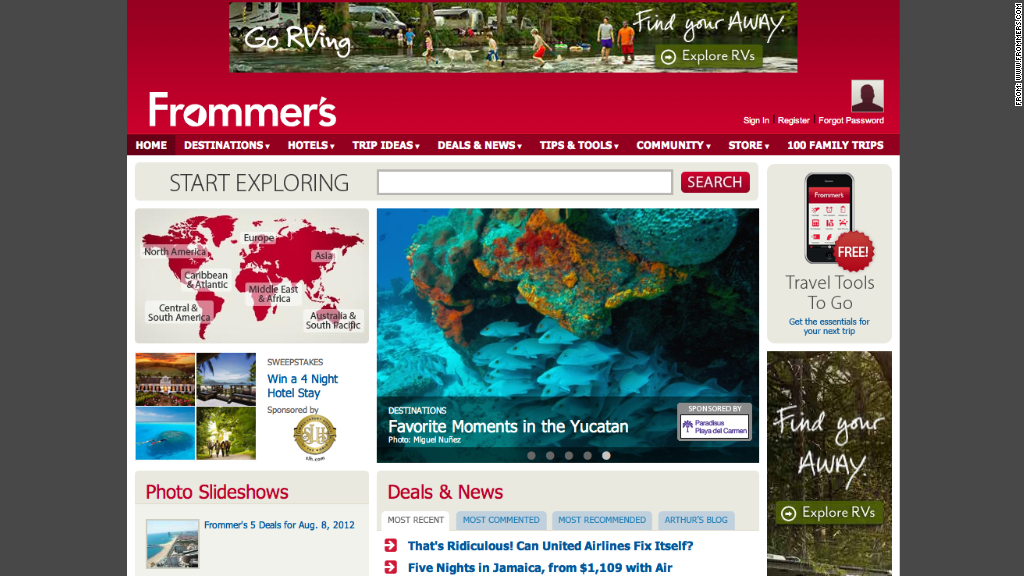 frommers travel