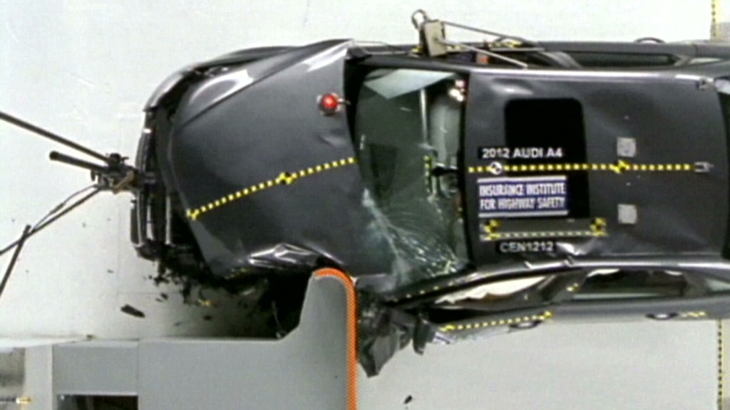 Watch luxury cars struggle in crash tests
