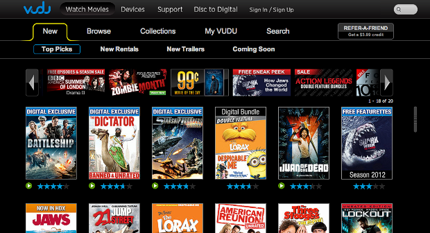 video streaming vudu
