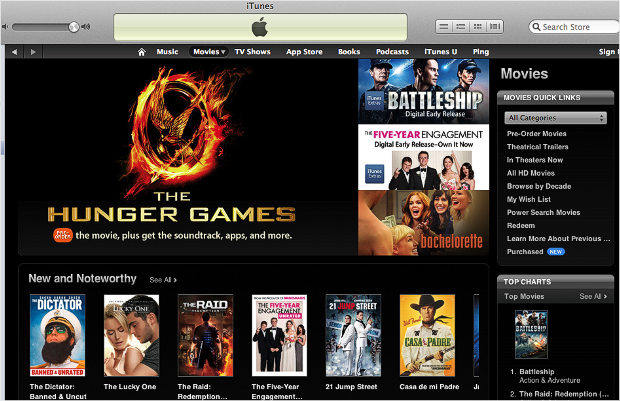 video streaming itunes