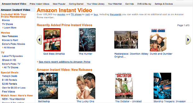 video streaming amazon instant