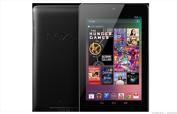 google nexus 7 tablet front back