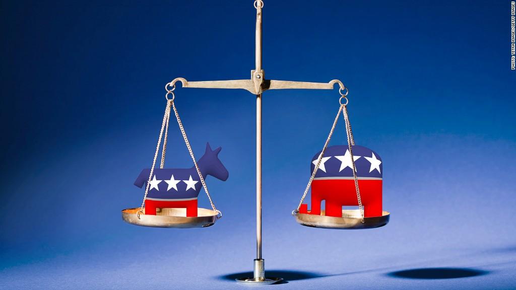 democrat republican balance