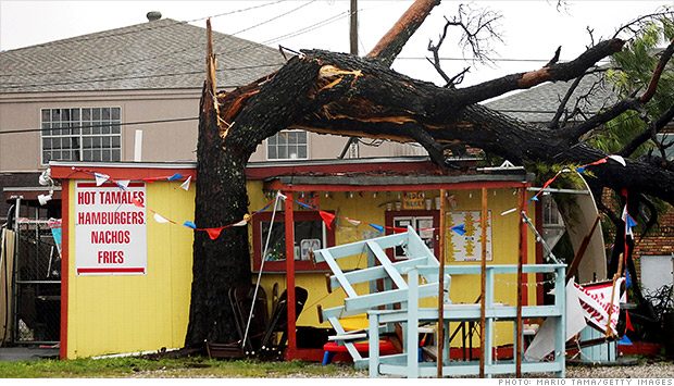 Hurricane Issac damages
