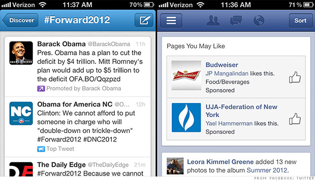 facebook twitter mobile