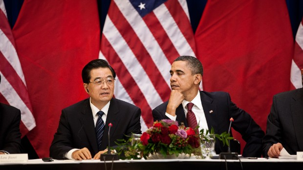 President Barack Obama and President Hu Jintao of China.