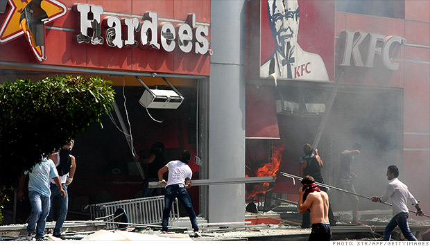 KFC Hardees Lenanon protests