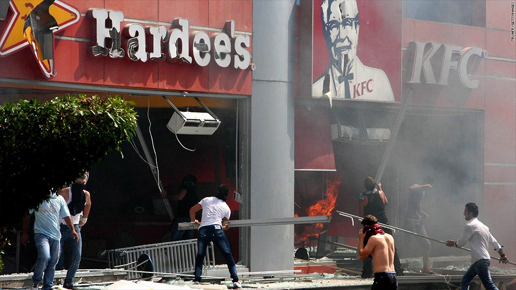 KFC Hardees Lenanon protests