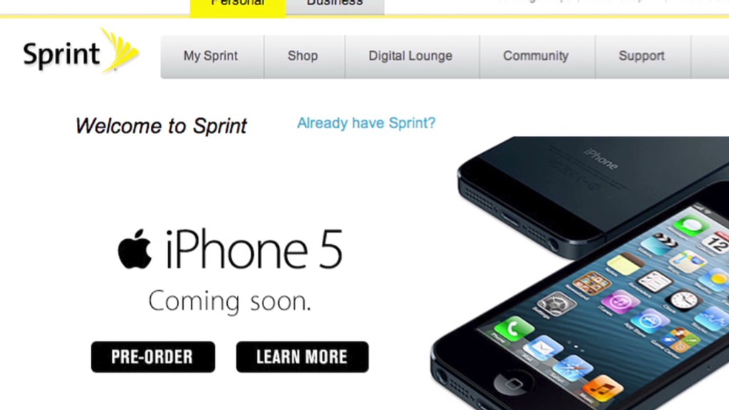 Sprint gets iPhone 5 bump