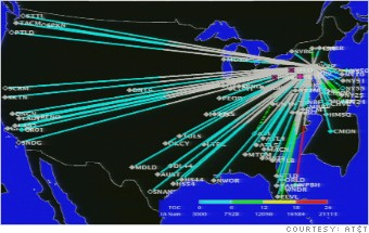 AT&T NY earthquake volume
