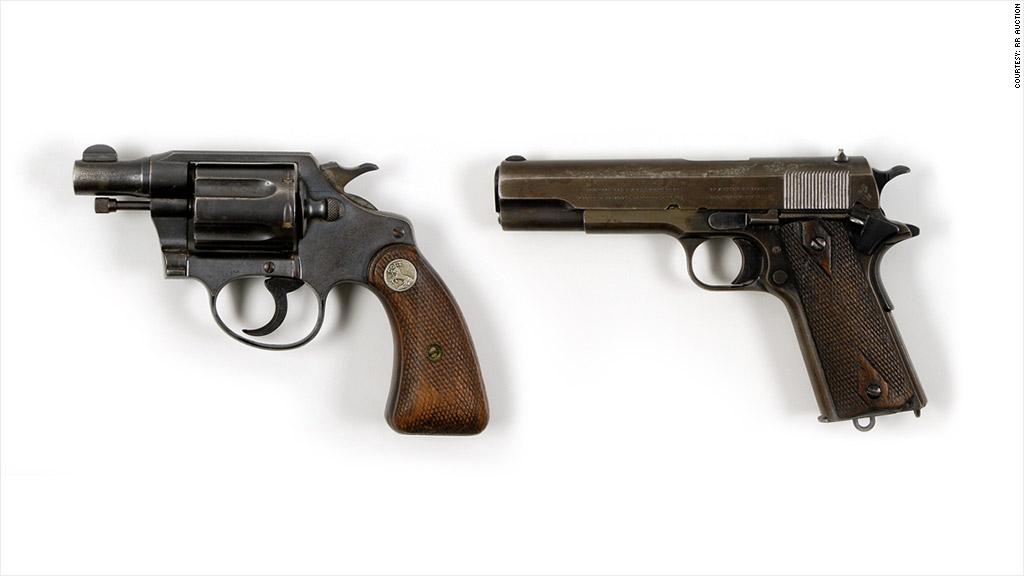 rr auctions bonnie clyde guns