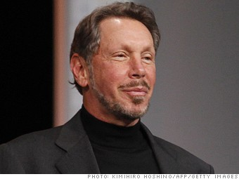 highest paid men larry ellison
