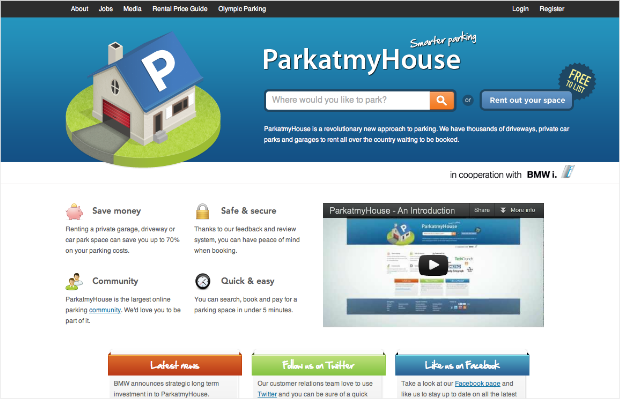 sharing sites parkatmyhouse