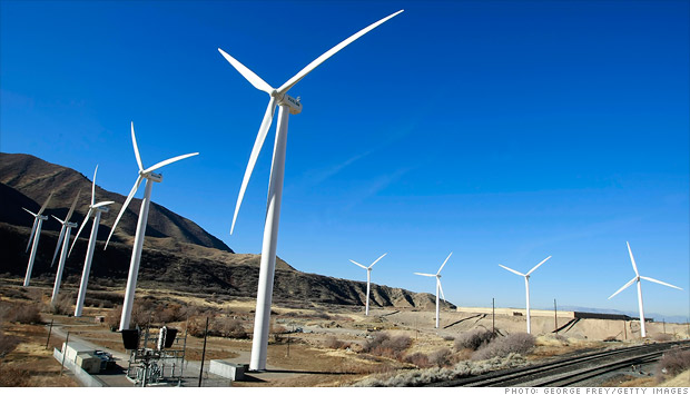 wind turbine green stimulus