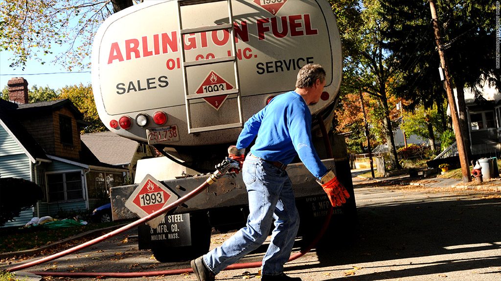 oil heating truck