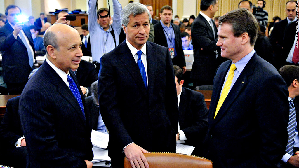 Big bank CEOs to Congress: Avoid fiscal cliff