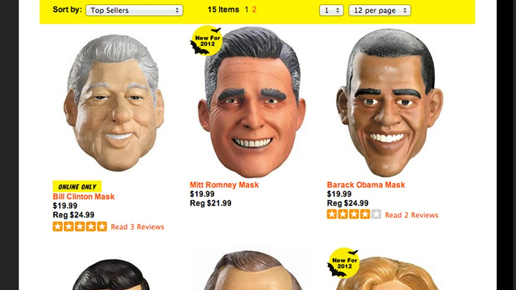 halloween political masks