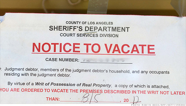 foreclose vacate