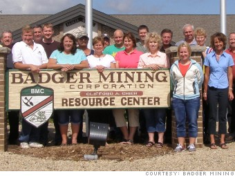 best small companies badger mining