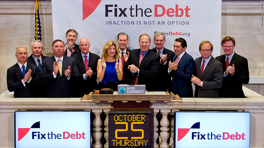 fixthedebt nyse bell