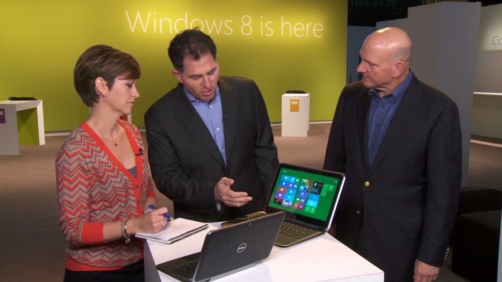 Microsoft & Dell CEOs show off Windows 8