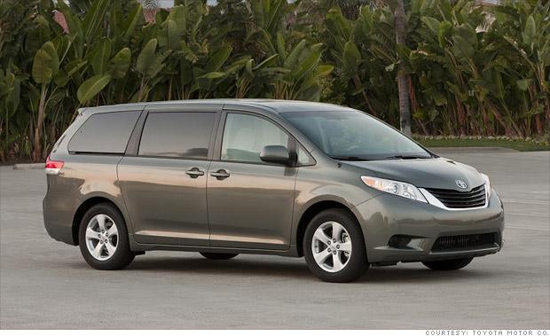 Minivan Toyota Sienna Consumer Reports Names Most