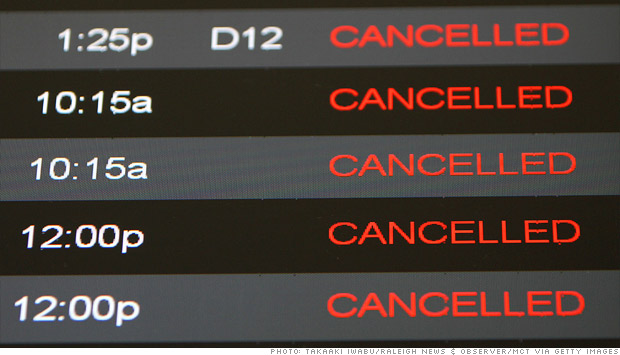 cancelled flights hurricane sandy